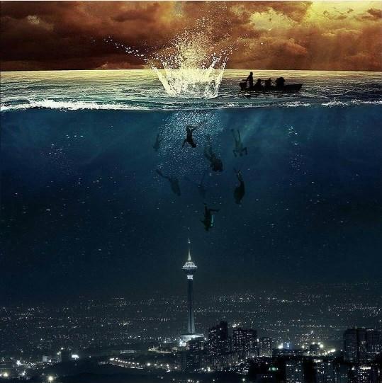 شنای شهدای غواص در تهران غرق شده!